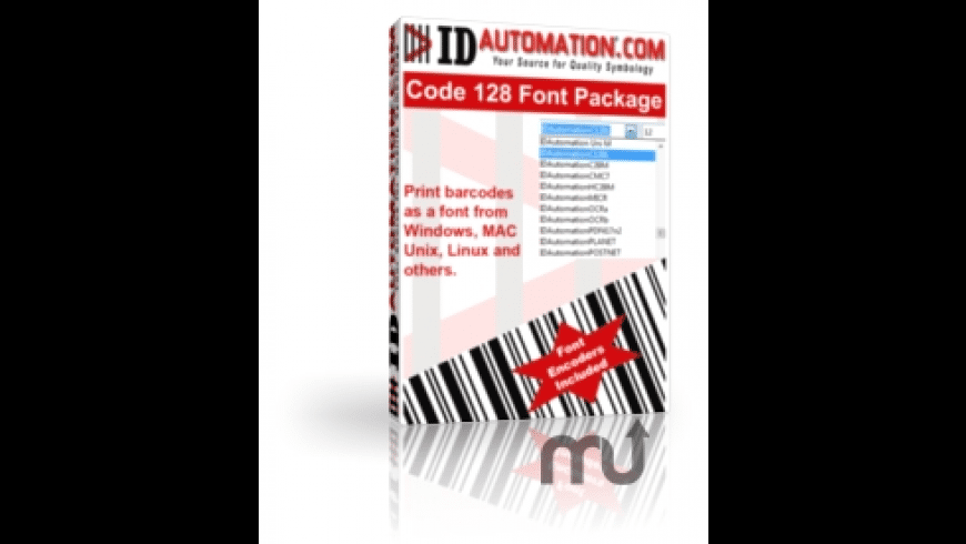 IDAutomation Code 128 Barcode Fonts for Mac - review, screenshots