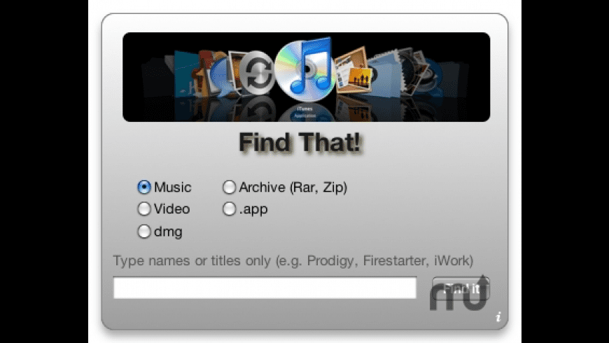 Find That! for Mac - review, screenshots