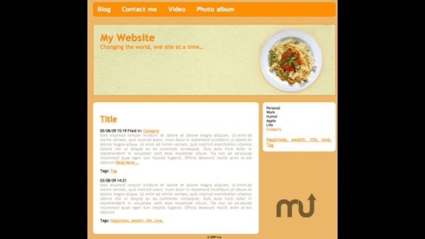 RapidWeaver Themes: Gourmet Hues for Mac - review, screenshots