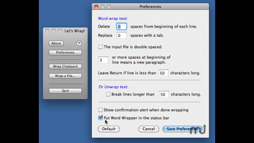 WordWrapper for Mac - review, screenshots