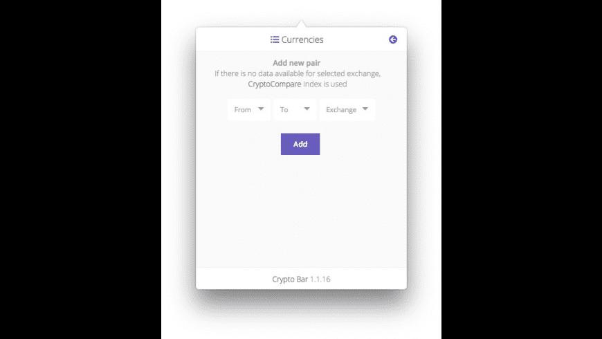 Crypto Bar for Mac - review, screenshots