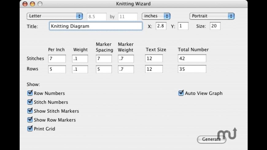 Knitting Wizard for Mac - review, screenshots