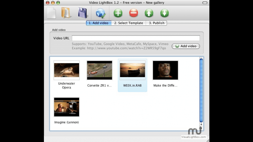 VideoLightBox for Mac - review, screenshots
