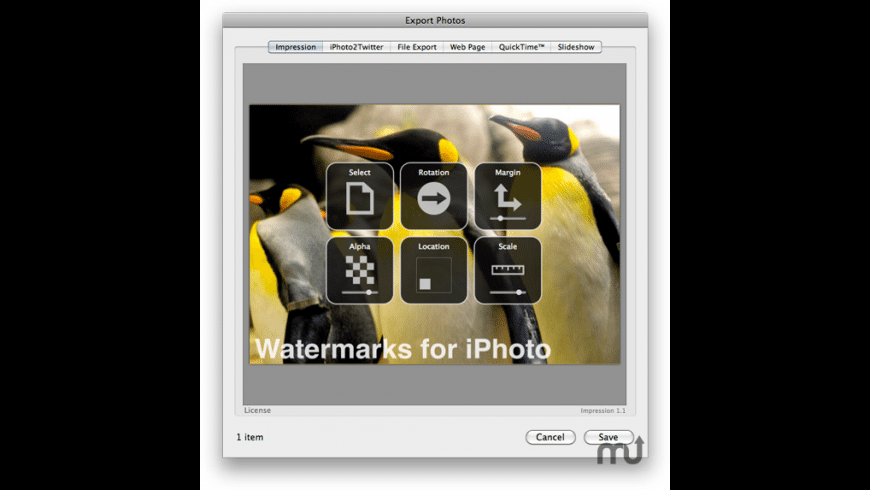 Impression for iPhoto for Mac - review, screenshots