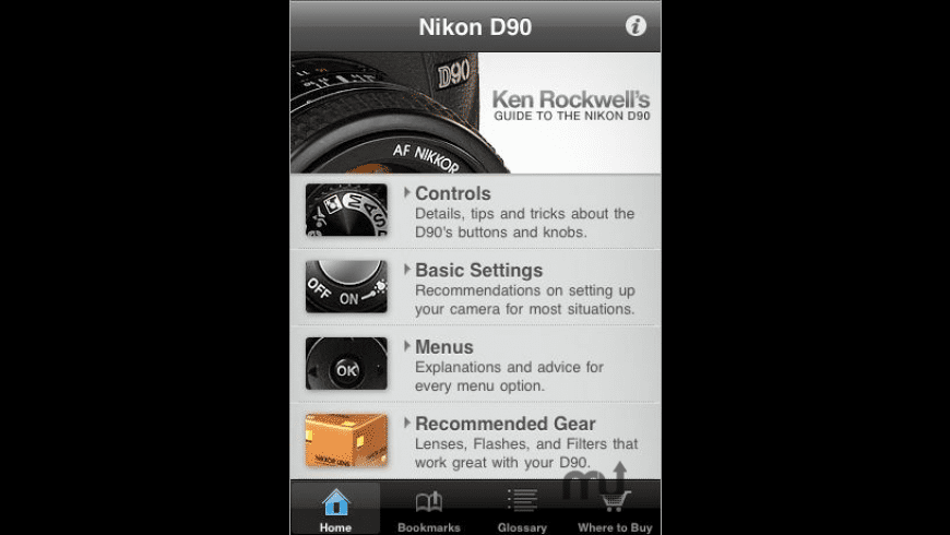 Nikon D90 Guide for Mac - review, screenshots
