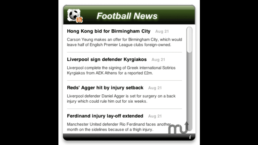 Football News for Mac - review, screenshots