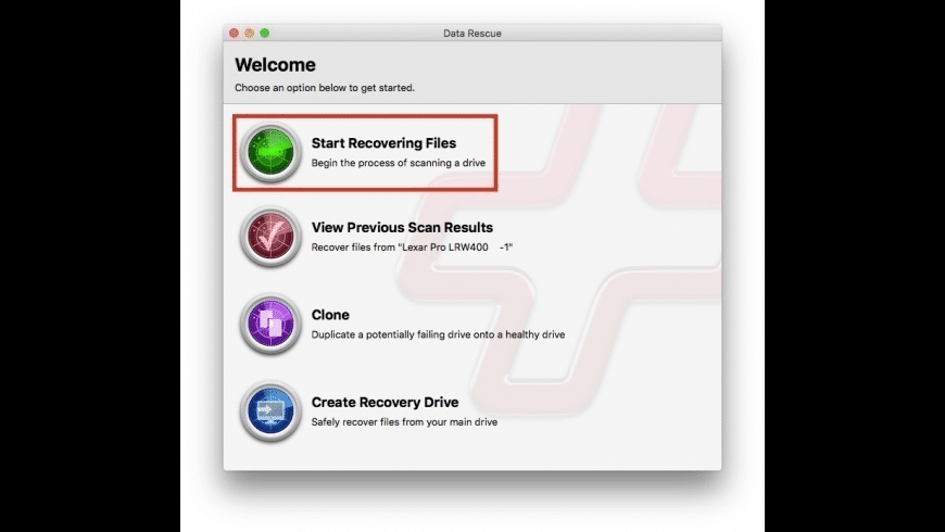 Data Rescue for Mac - review, screenshots
