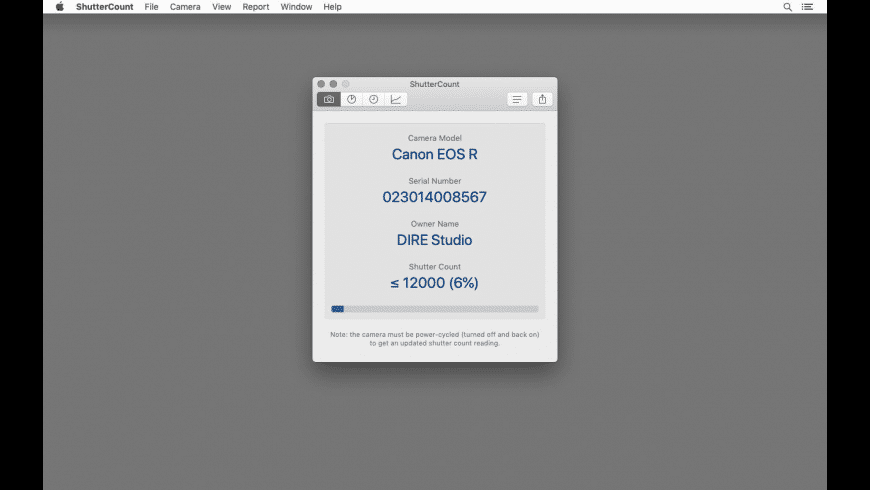 ShutterCount for Mac - review, screenshots