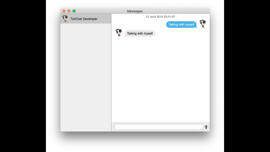 TorChat for Mac - review, screenshots