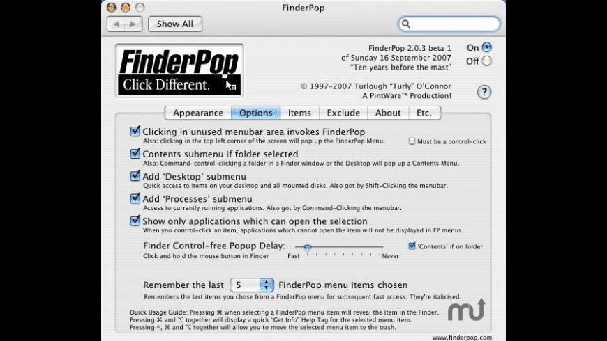 FinderPop for Mac - review, screenshots