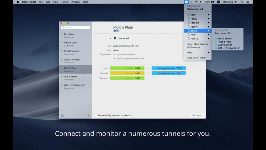 Core Tunnel for Mac - review, screenshots