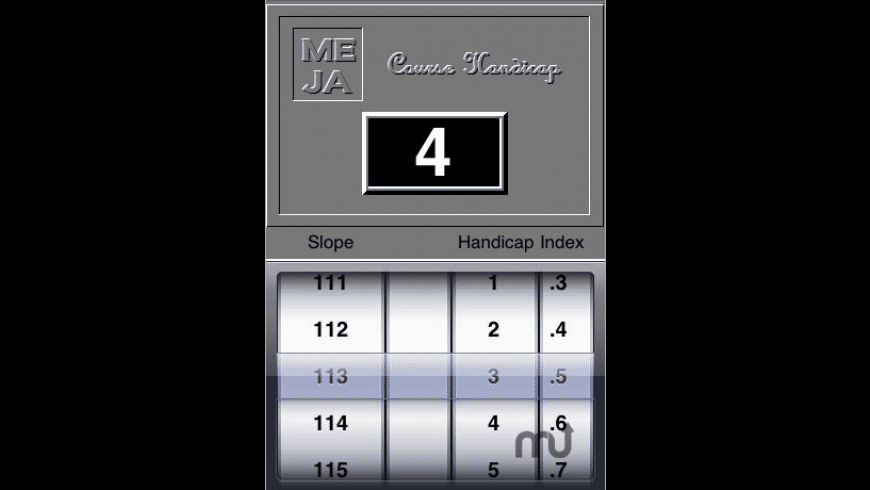 Course Handicap Calculator for Mac - review, screenshots