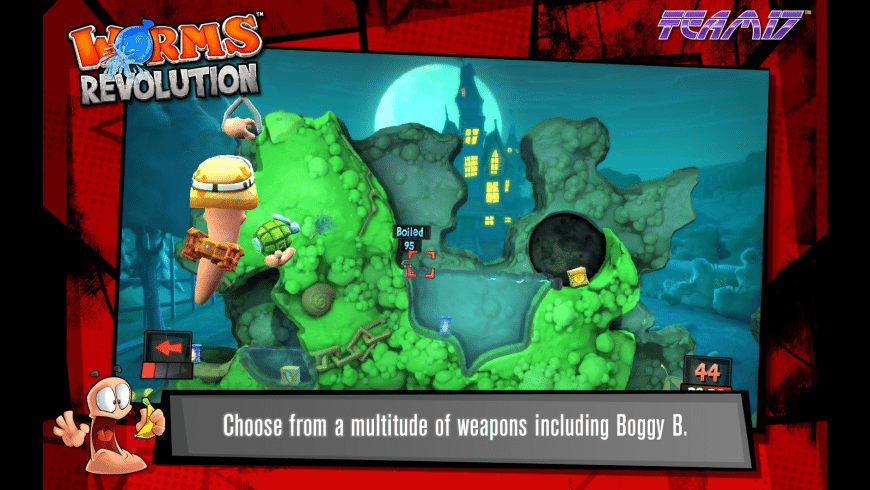 Worms Revolution for Mac - review, screenshots