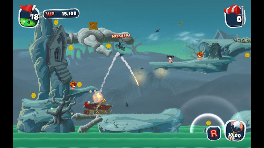 Worms Crazy Golf for Mac - review, screenshots