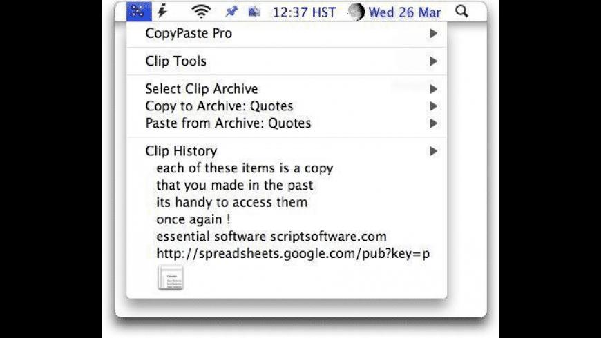 CopyPaste Pro for Mac - review, screenshots