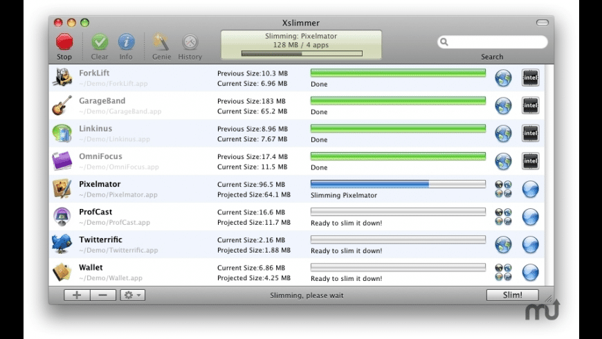 Xslimmer for Mac - review, screenshots