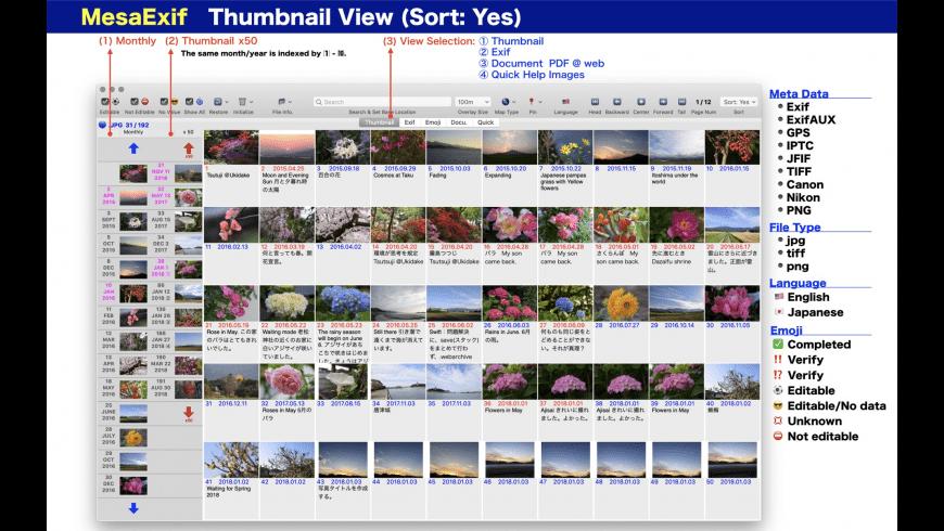 MesaExif for Mac - review, screenshots