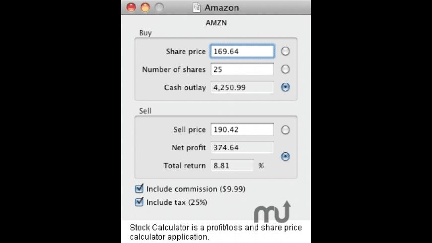 Stock Calculator for Mac - review, screenshots