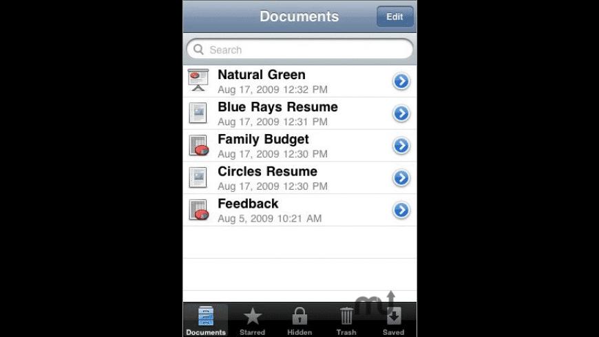 MobileDocs for Mac - review, screenshots