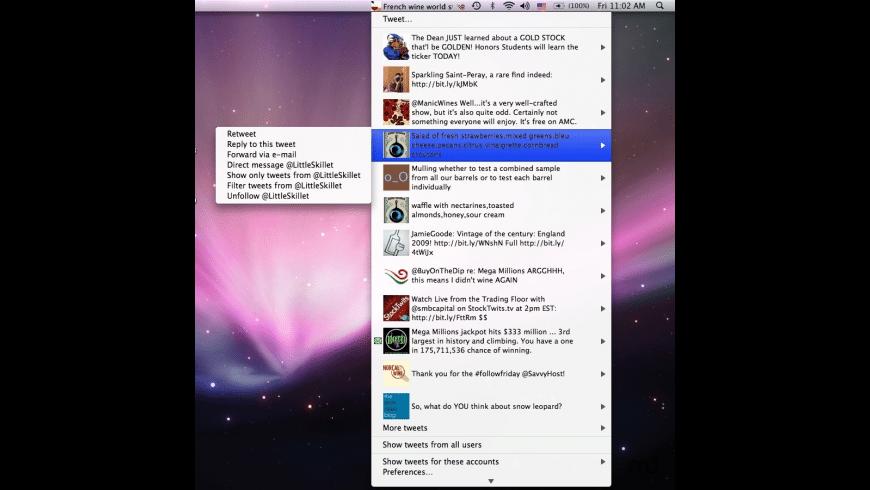 Twit Menulet for Mac - review, screenshots