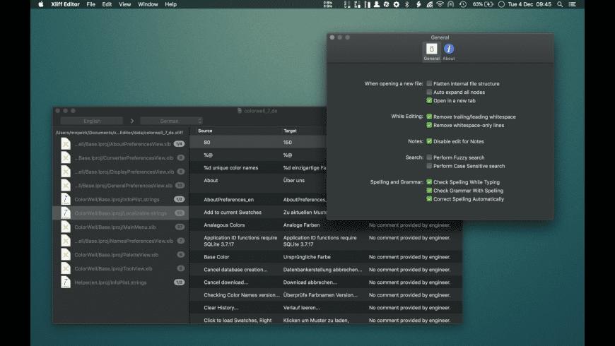 Xliff Editor for Mac - review, screenshots