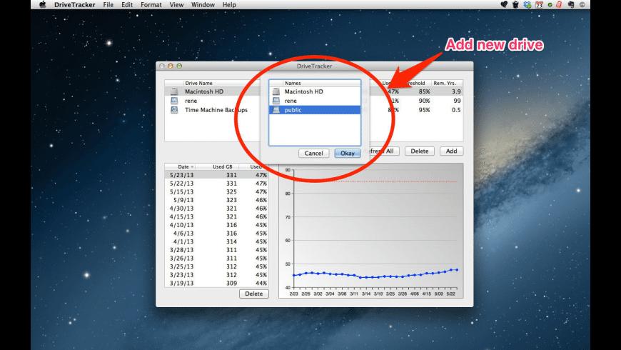 DriveTracker for Mac - review, screenshots
