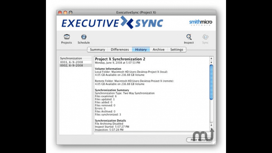ExecutiveSync for Mac - review, screenshots