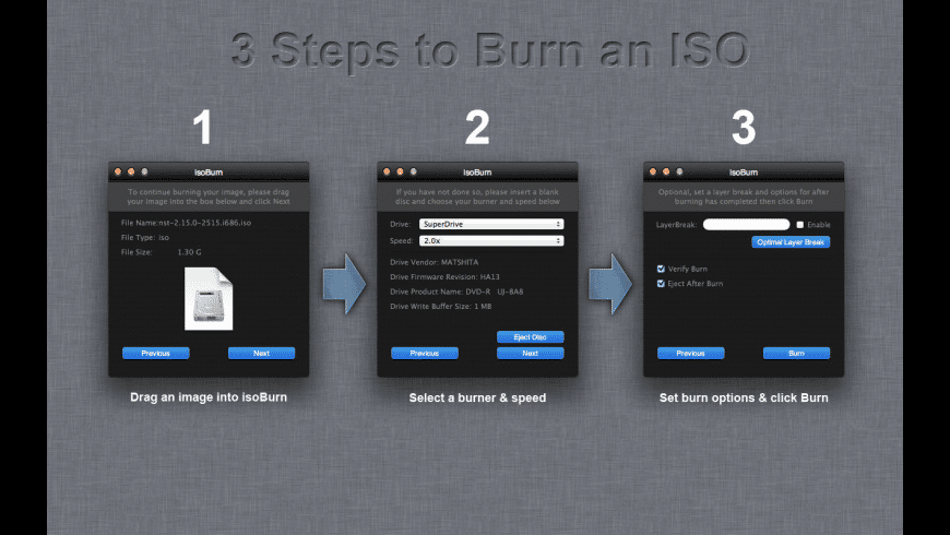 isoBurn for Mac - review, screenshots