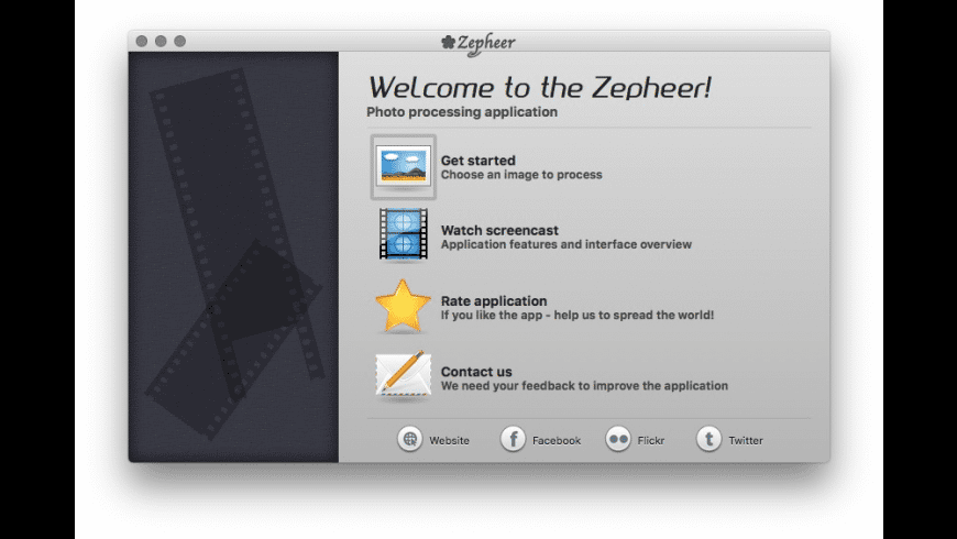 Zepheer for Mac - review, screenshots