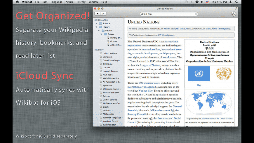 Wikibot for Mac - review, screenshots