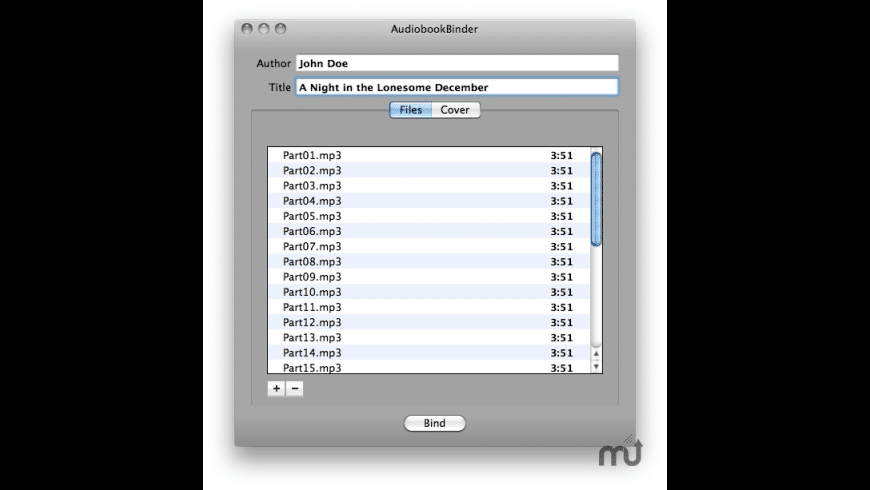 AudioBook Binder for Mac - review, screenshots