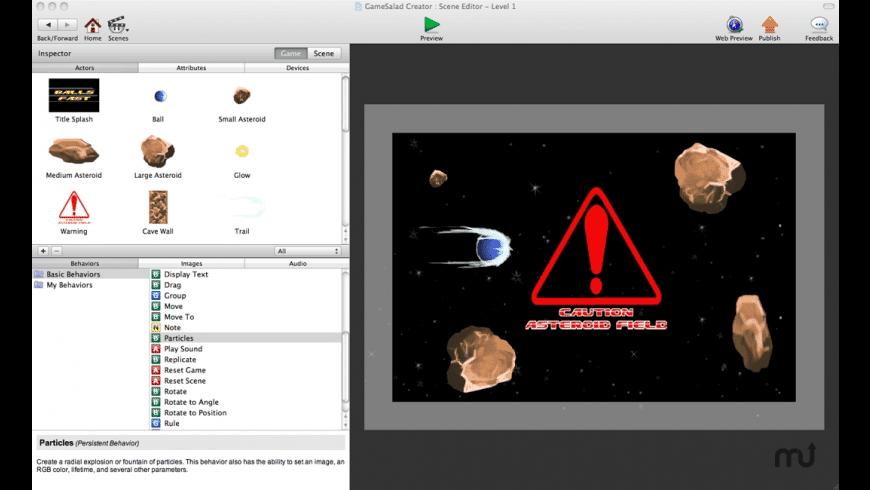GameSalad for Mac - review, screenshots