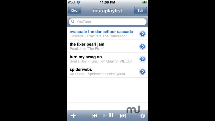 instaplaylist for Mac - review, screenshots