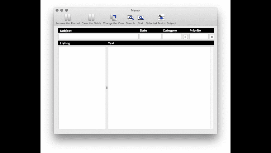 MA Memo for Mac - review, screenshots