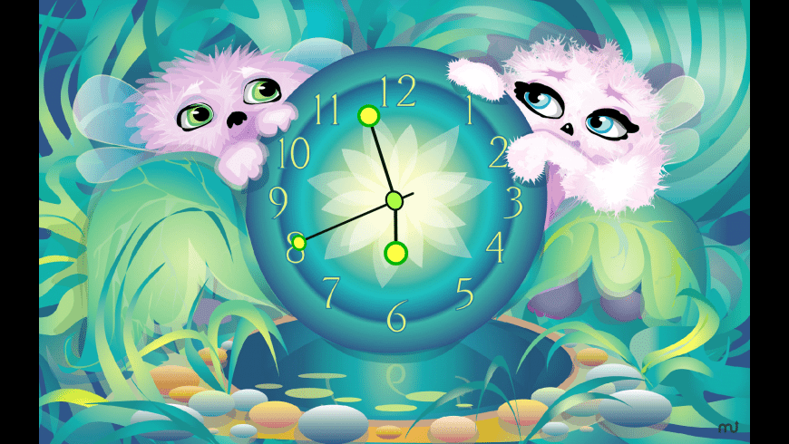 7art Alien Pets Clock for Mac - review, screenshots