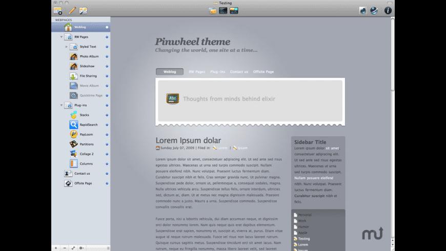 Pinwheel theme for Mac - review, screenshots