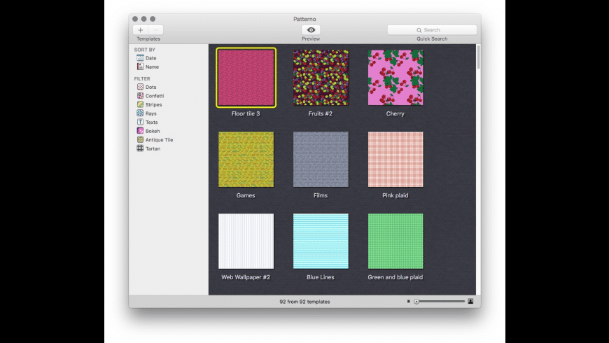 Patterno for Mac - review, screenshots