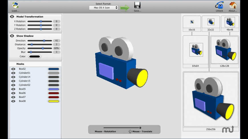 model2icon for Mac - review, screenshots