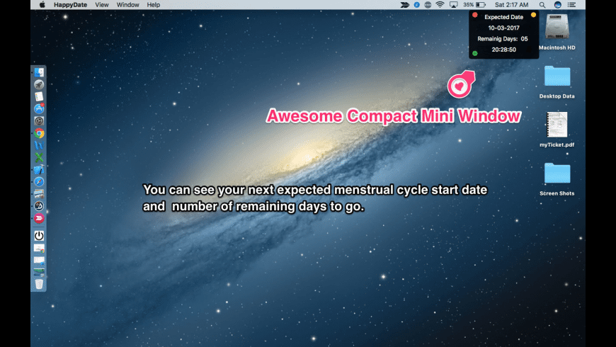 Happy Periods for Mac - review, screenshots