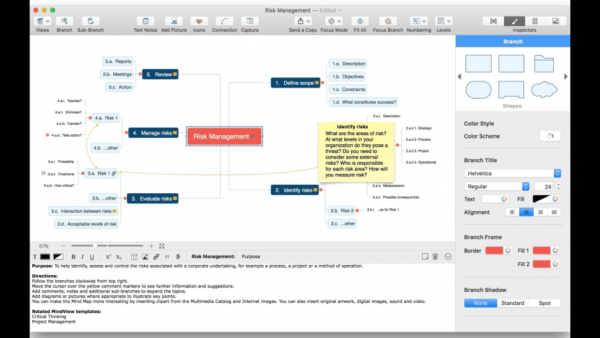 MindView for Mac - review, screenshots