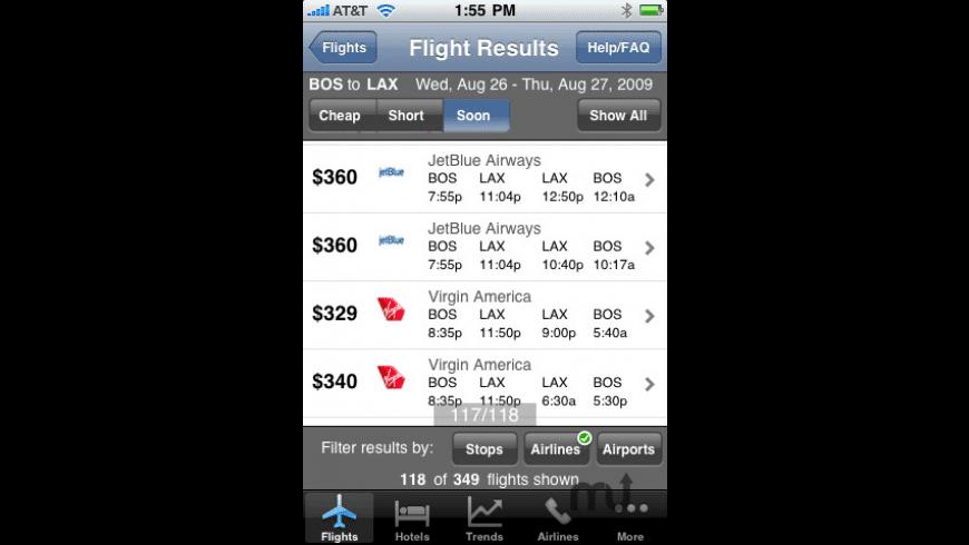 Kayak Flight, Hotel Search for Mac - review, screenshots