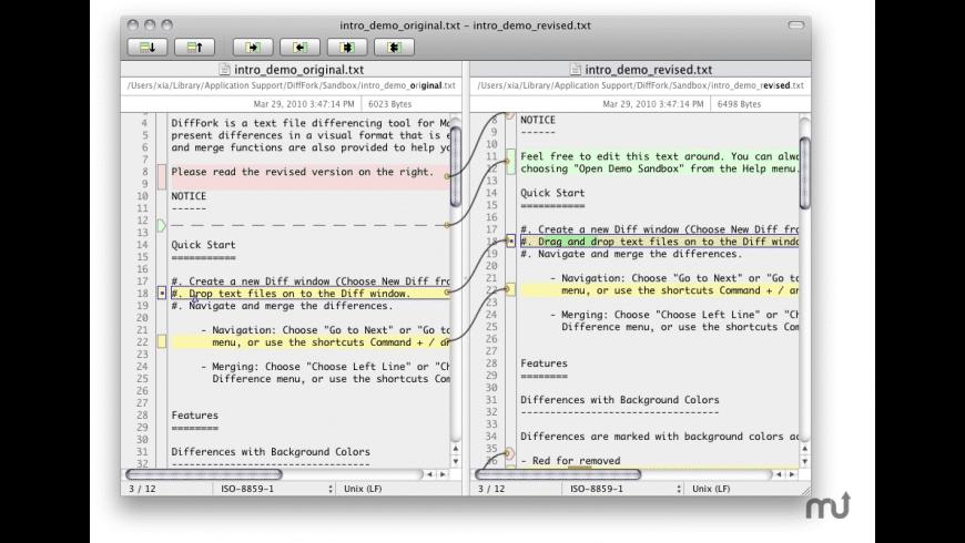 DiffFork for Mac - review, screenshots