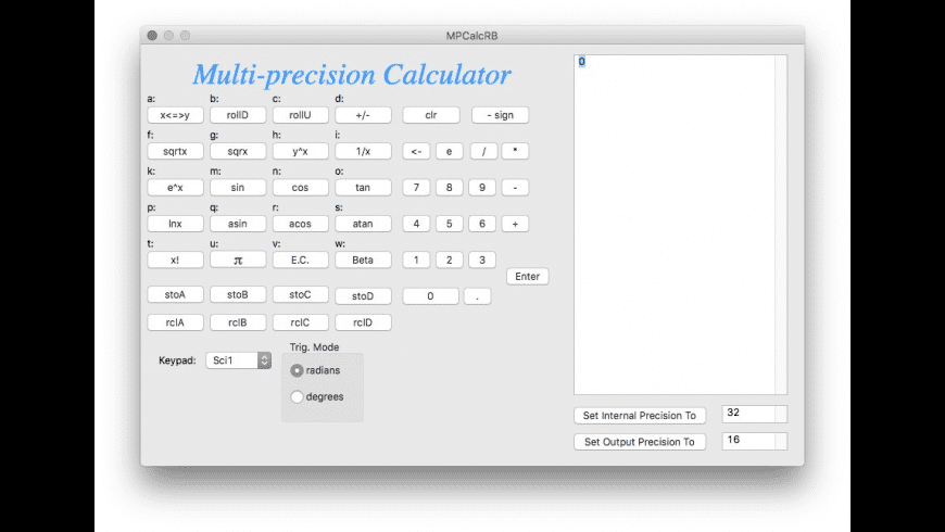 MPCalcRB for Mac - review, screenshots