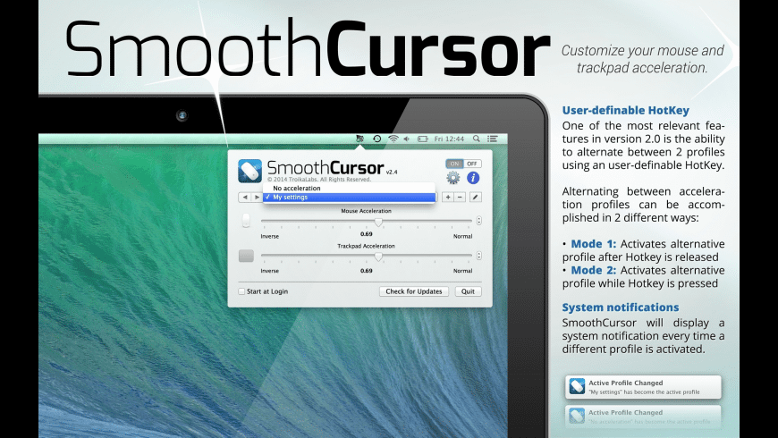 SmoothCursor for Mac - review, screenshots