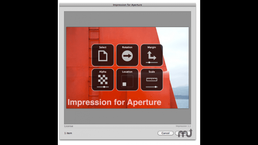 Impression for Aperture for Mac - review, screenshots