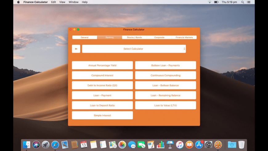 Finance Calculator for Mac - review, screenshots