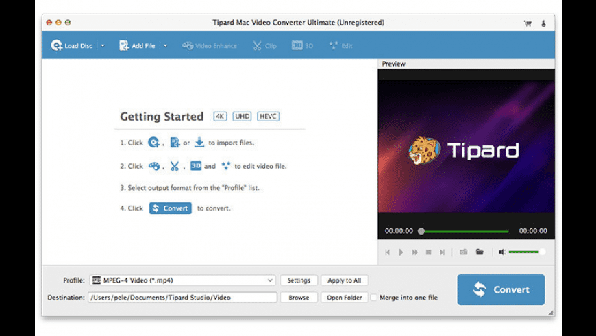 Tipard Video Converter Ultimate for Mac - review, screenshots