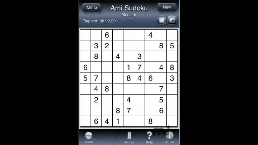 Ami Sudoku for Mac - review, screenshots