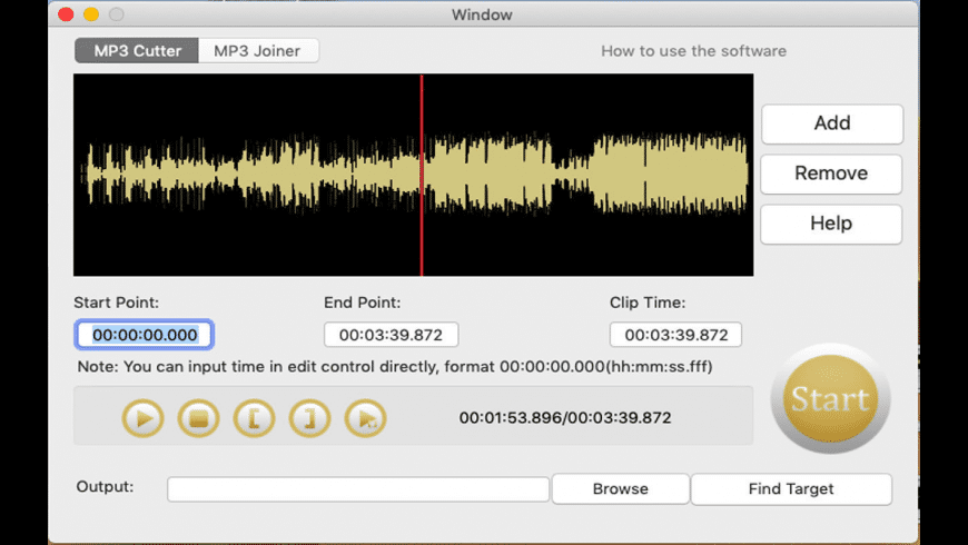 MP3 Cutter Joiner for Mac - review, screenshots