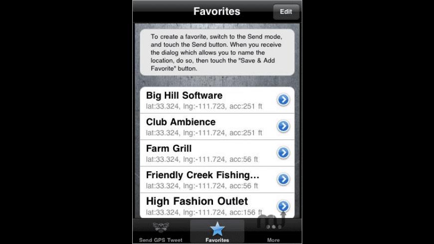GPS Tweet for Mac - review, screenshots